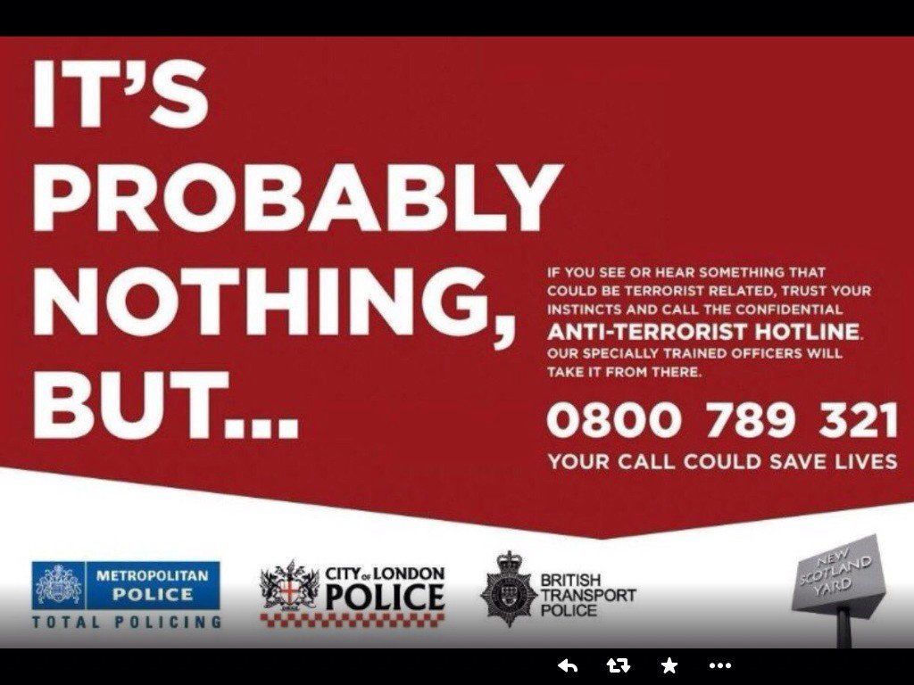 0800 789 321 is the anti terrorist hotline  Why not put it into your mobile? https://t.co/OIMqhzaDiv