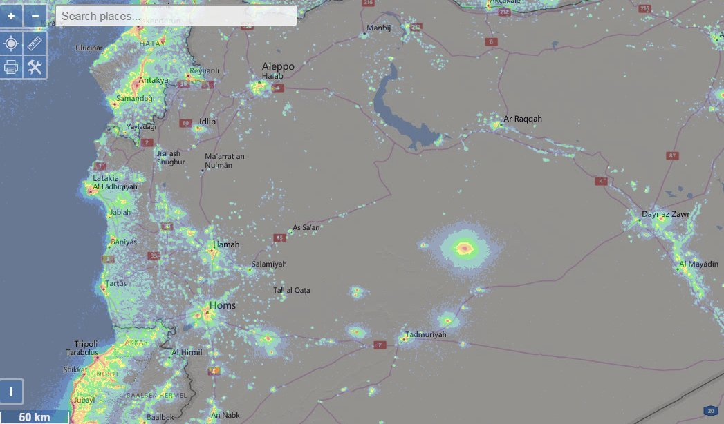What produces so light pollution into the syrian desert? Territory controlled by ISIS  #WhatOnEarth  @ScienceChannel