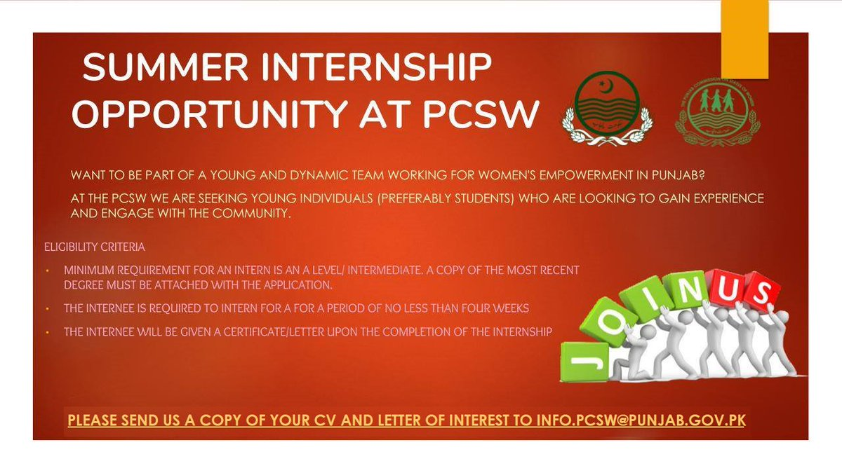 Pcsw On Twitter Our Summer Internship Programme Is Now Open For