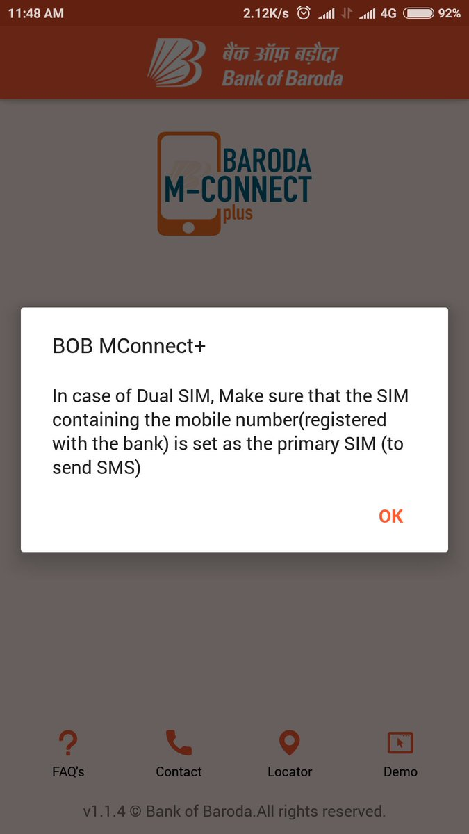 Never seen a grt UX than this your app literally telling me to change my sim cards #boo #wth @bankofbaroda<br>http://pic.twitter.com/kDZXTWDSXB