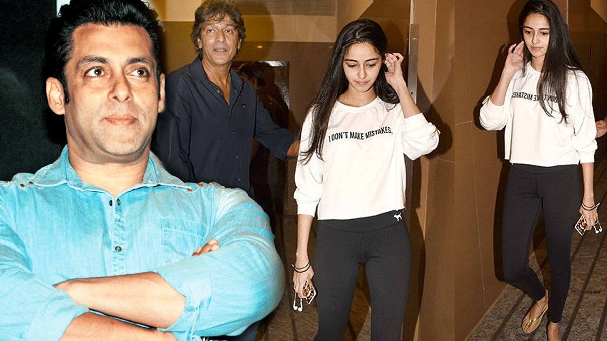 Image result for Godfather Salman to Launch Chunky Pandey's Daughter Ananya in Bollywood
