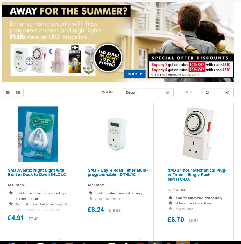 Save on Summer Security  timer plugs &amp; LED lamps  http:// ow.ly/di8B30bYium  &nbsp;   #RT #Follow #Win  #Multibuy any 2/4 Extra 10/20% off @DailyDealsUK<br>http://pic.twitter.com/YZ05nxUx1y