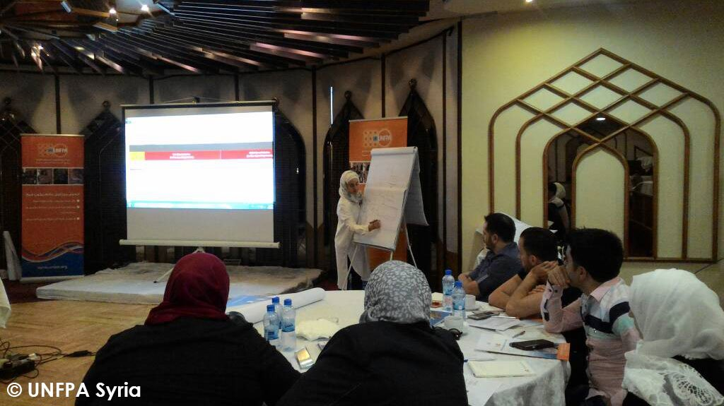 Training of 22 participants of our #local partners in #Homs on #Data collection tools #Reporting Gaps #Challenges &amp; examples #GBV Guidance.<br>http://pic.twitter.com/54xAGlDlt4