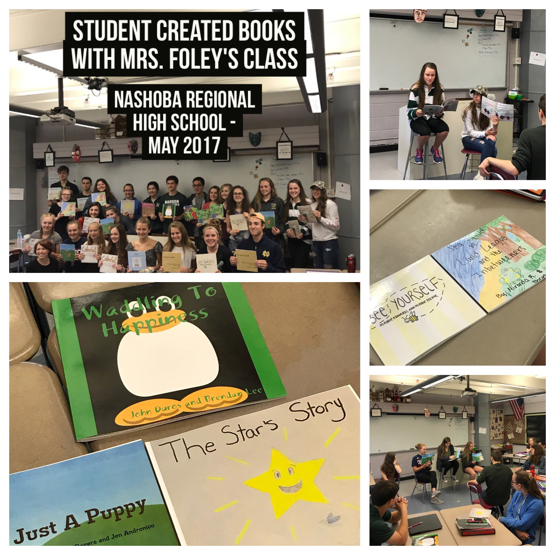 Children's illustrated books w/ @FoleyProcko class. Amazing work! https://t.co/ynaAwNyQVn