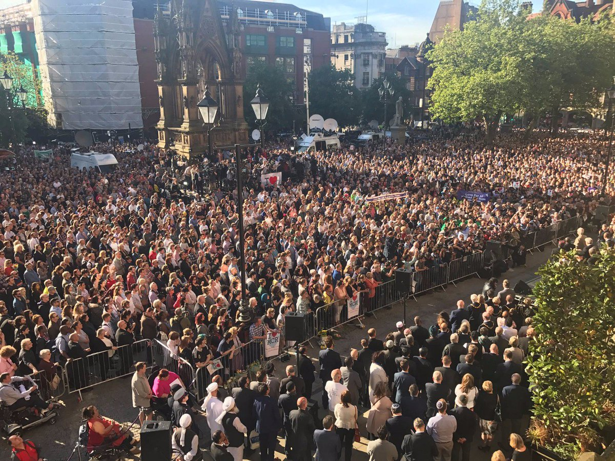 The spirit in Albert Square, Manchester, last night was deeply moving. I saw a people defiant, proud, and refusing to be divided by hate.