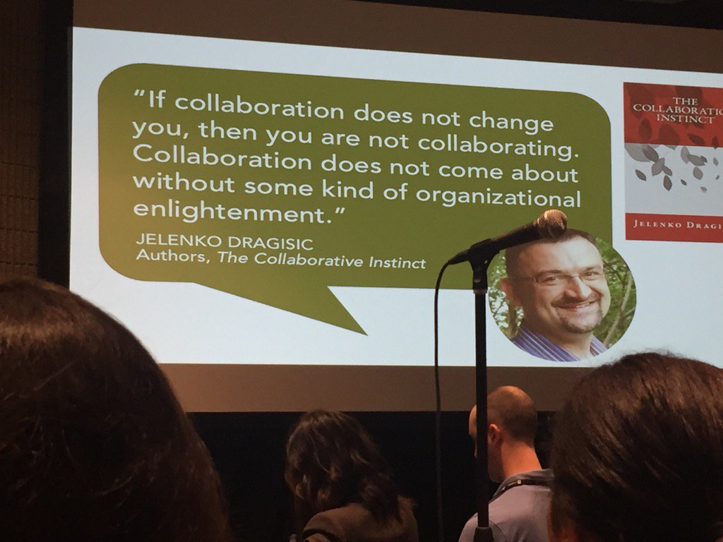 Words of wisdom about collaboration. And collaborating as a team. #ATD2017 #beinvloeden