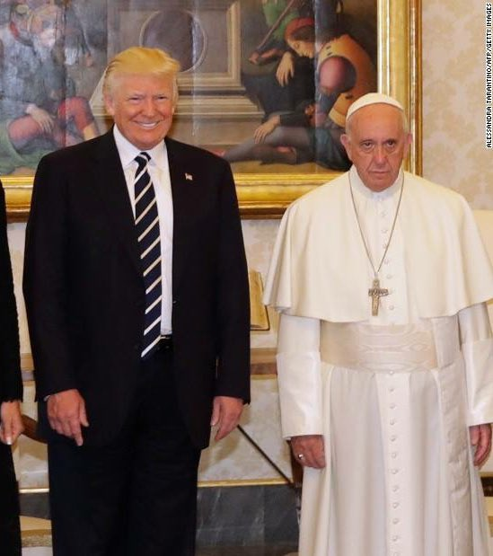 Pope Francis with different heads of state during their visits at the Vatican.   Something seems...different 🤔