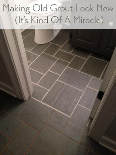 Making Old Discolored Grout Look Like New