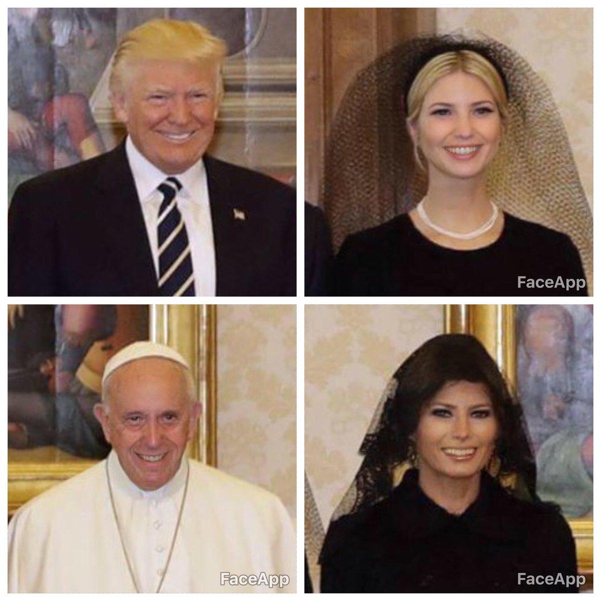 Don't worry, be happy! #pope #trump #backinblack #godsavethepope #happ...