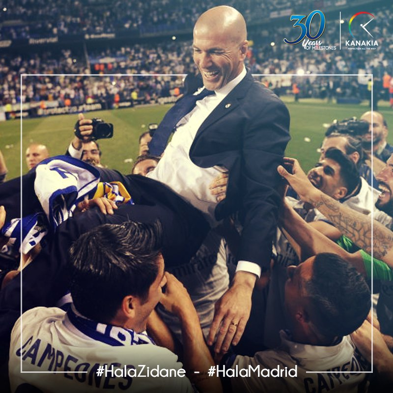 #Zidane leads Real Madrid to glory again! Our heartiest congratulations to the entire team for winning #LaLiga Championship. #HalaMadrid<br>http://pic.twitter.com/NGp4ORXwuD