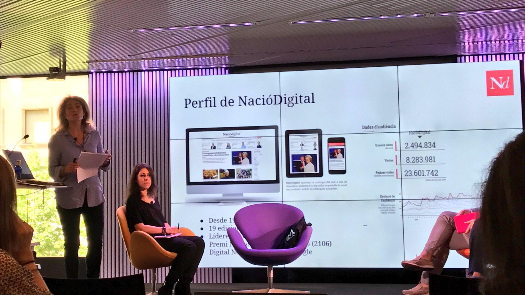 """Potenciamos el periodismo hiperlocal"", cuenta @kpeiro de @naciodigital. #MoJoBCN https://t.co/rtHtUarjj1"