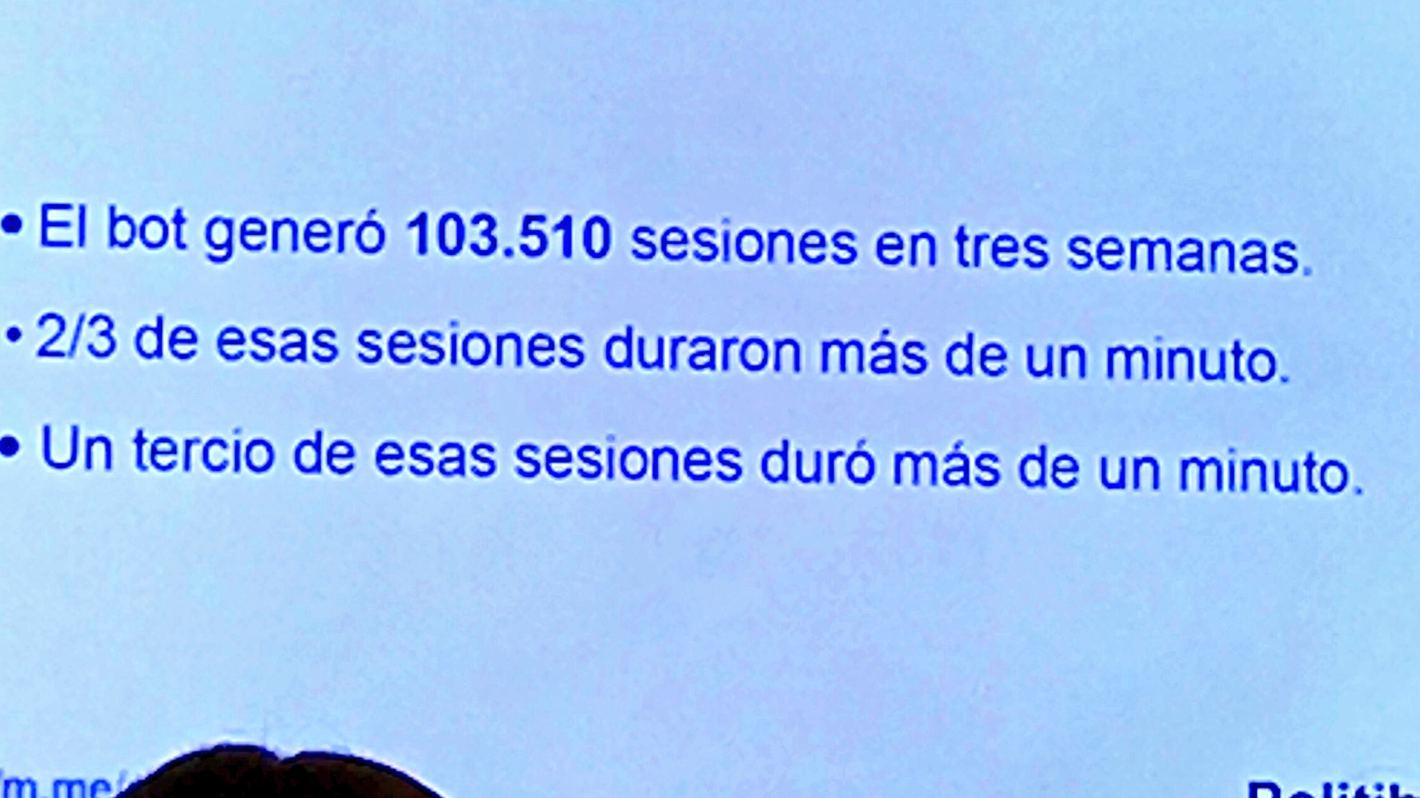 Algunas cifras sobre la experiencia de @politibot en la campaña española de 2016. #MoJoBCN https://t.co/xC2IFWYFfA