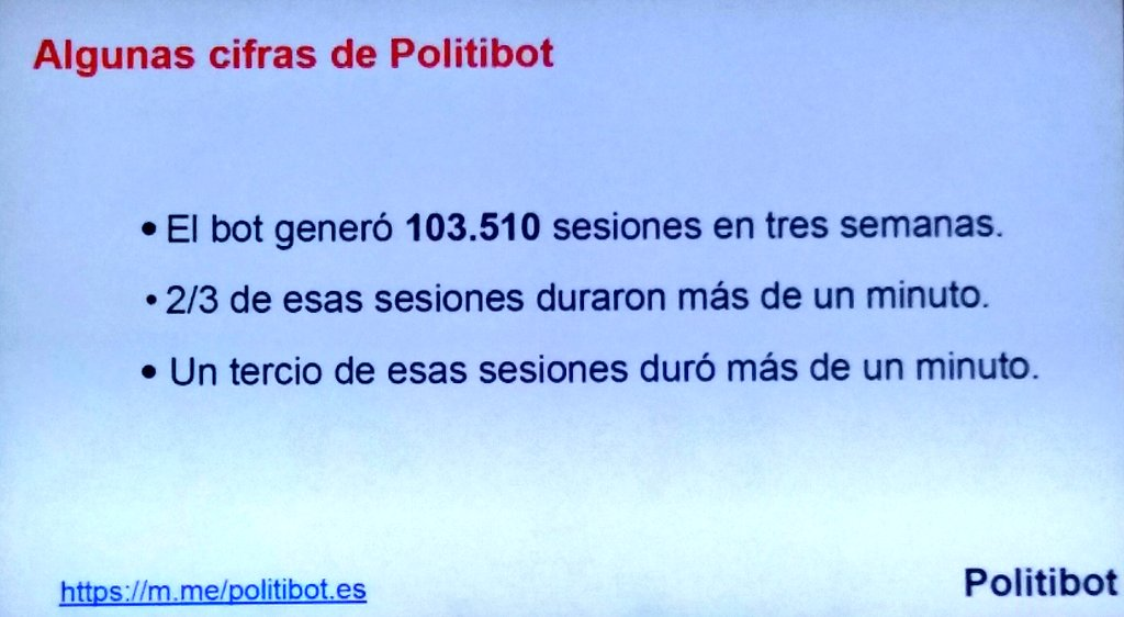 @eduardosuarez: Cuando inicias un #bot lo más difícil de gestionar son las expectativas del usuario #MoJoBCN https://t.co/0k5pAsbz9L