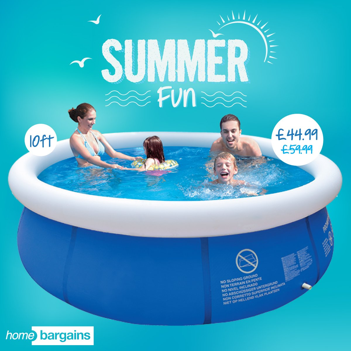 Home Bargains On Twitter The Ultimate Summer Accessory For Your Garden Has Arrived Cool Off In Style With This 10ft Inflatable Pool Https T Co Pavn2bmnph Https T Co 3btpzubsym