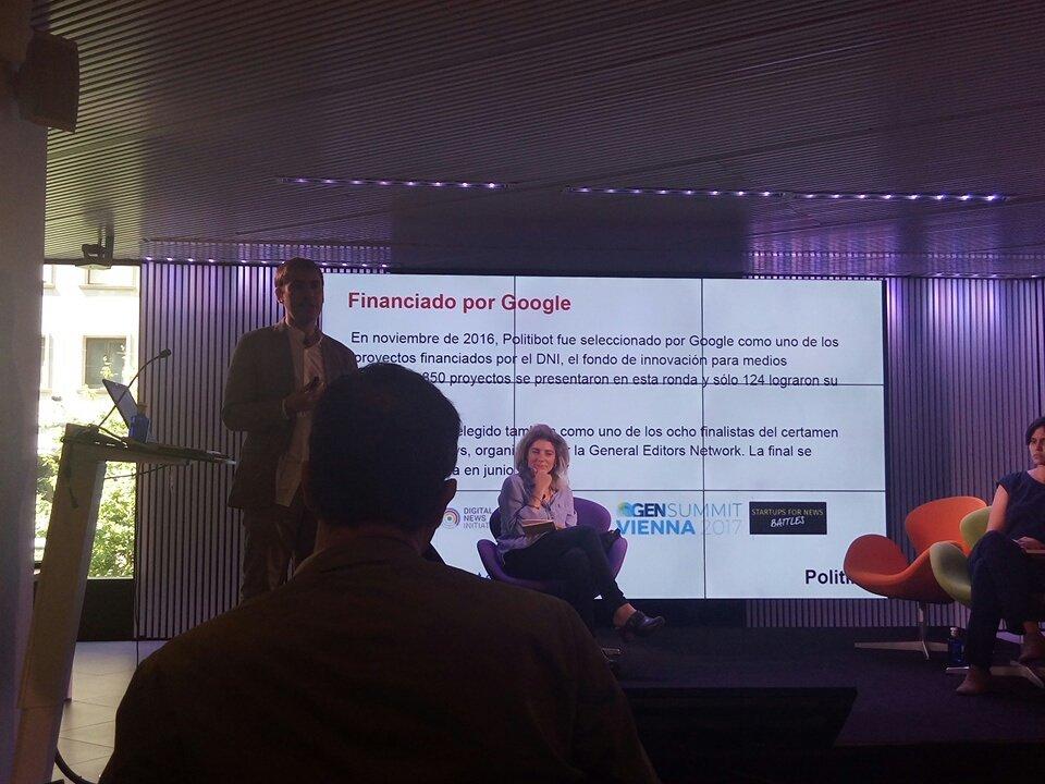 #polibot fue seleccionado  por  Google en 2016 @eduardosuarez  #MoJoBCN en el Mobile World Centre @anaisbernal https://t.co/OgtHYMGipC