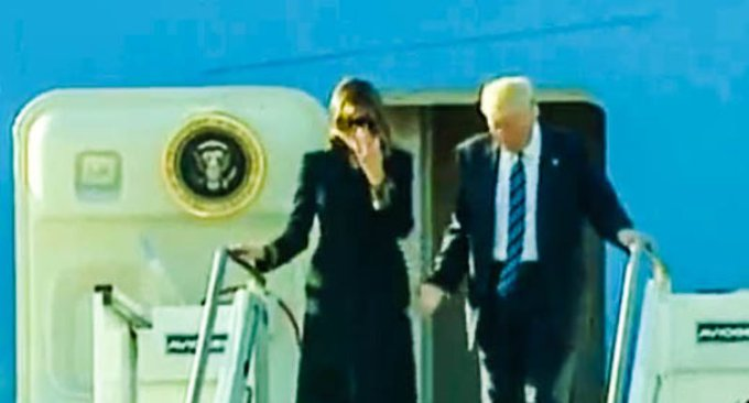 ICYMI: WATCH: Trump again tries to hold Melania's hand in public — and gets denied for second day in a row https://t.co/mM5SmVffpg