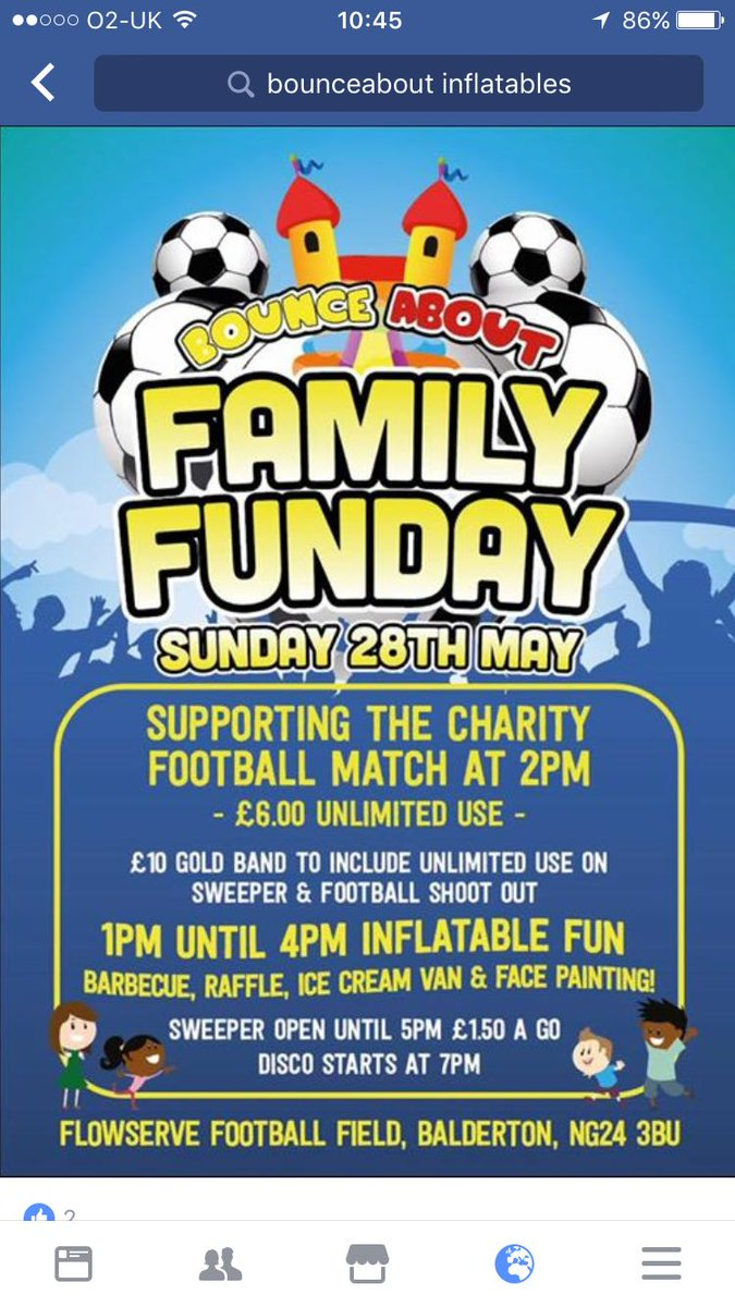 family fun day &amp; football match this Sunday at the club , be great to see some good numbers down to support the charity #bankholiday  <br>http://pic.twitter.com/YaSw1ReDoK