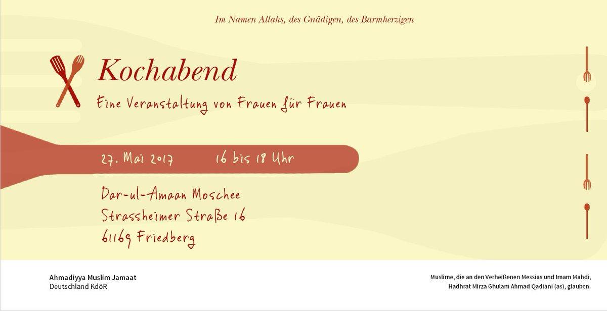 """lajna imaillah de on twitter: """"einladung zum #kochabend von frauen, Einladung"""