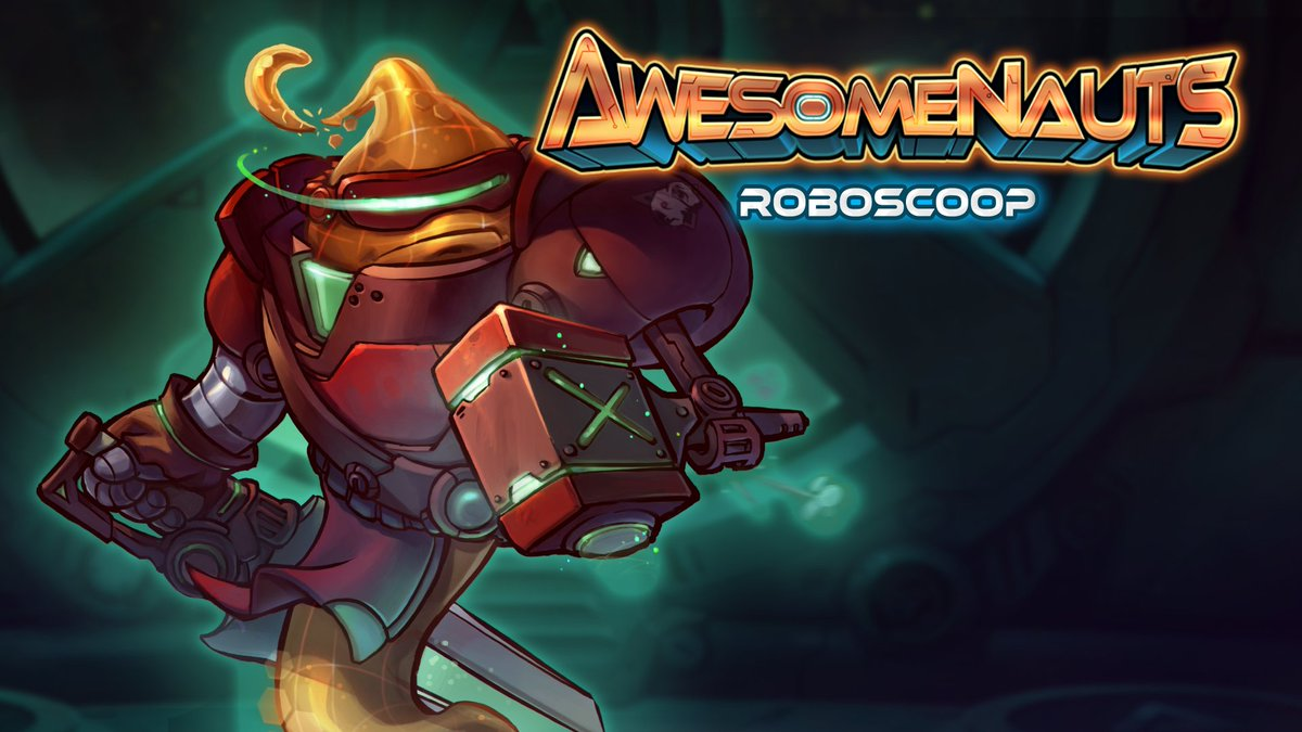 Awesomenauts is going free to play on Steam in 6 hours! RT to have a shot at winning a Roboscoop skin! https://t.co/bvuSSjNp9W