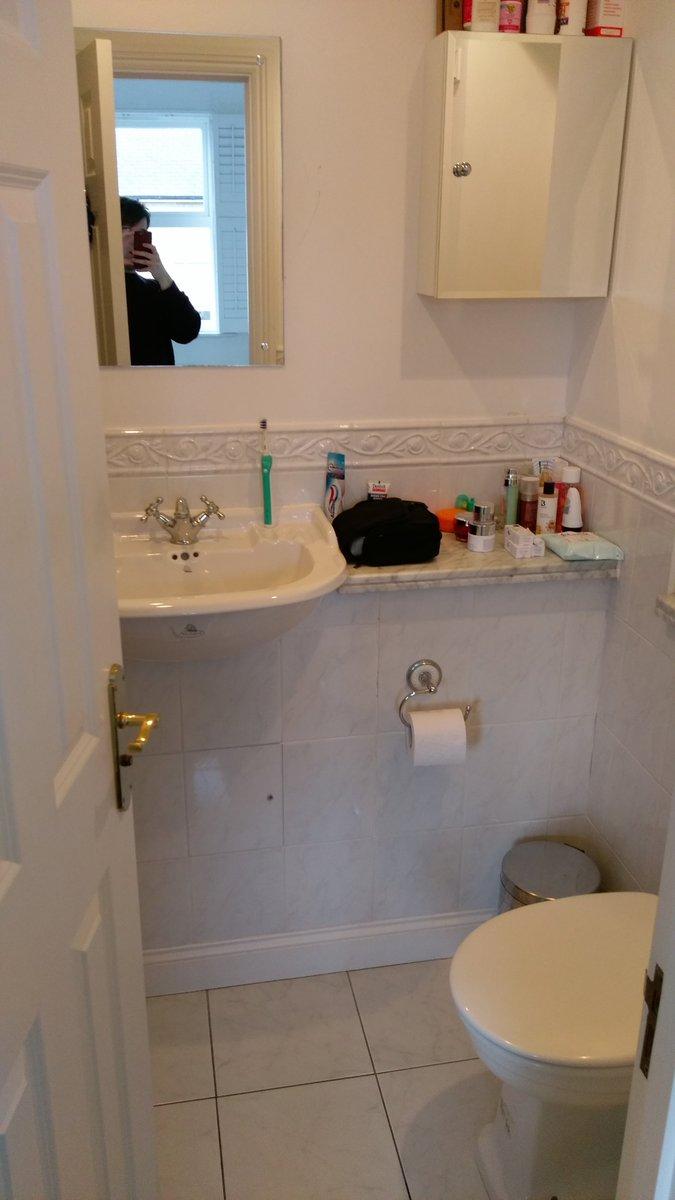 #bathroom transformation in Long Ditton. @MinoliTiles @BisqueRadiators @Astrol_lighting @VADO_uk @VanityHallGroup @GeberitUK @CrosswaterLtd<br>http://pic.twitter.com/ZOSBx8hEcB