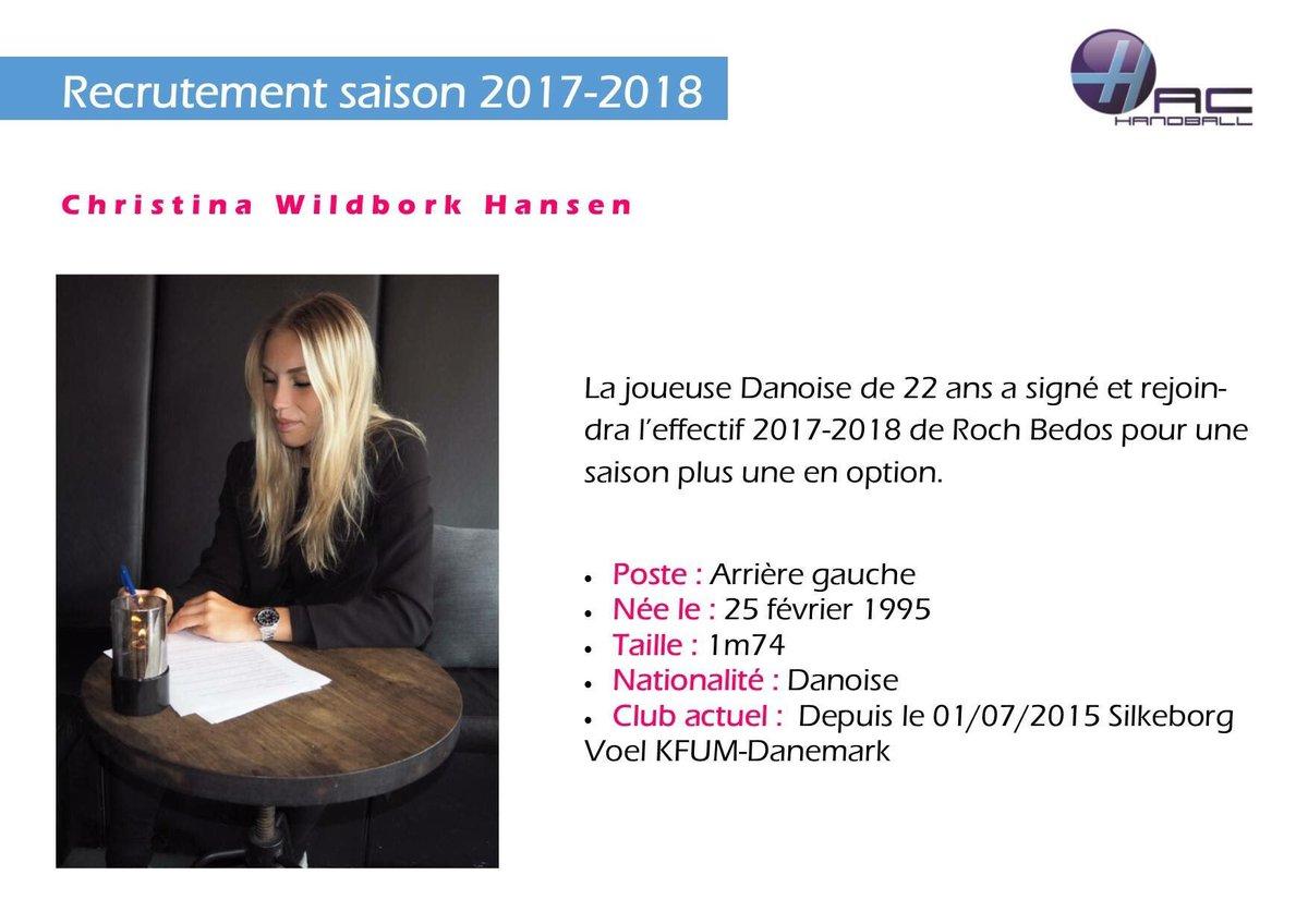 #recrutement pour la saison 2017/2018 : Christina Wildbork hansen <br>http://pic.twitter.com/kDGjv3bJDa