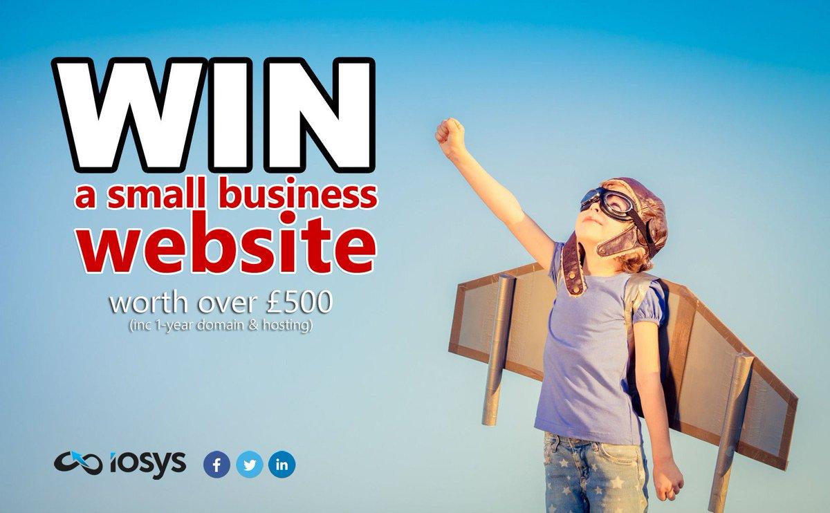 Simply follow us &amp; retweet for a chance to #win a #SmallBusiness #Website #uksmallbiz  https://www. iosys.co.uk/win-a-website  &nbsp;  <br>http://pic.twitter.com/57KA2740i6