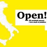 """Entra nel vivo """"Open! #StudiAperti"""", la manifestazione che accomunerà tutti gli #studi di #architettura italiani  https://t.co/7IrITJQLRA"""