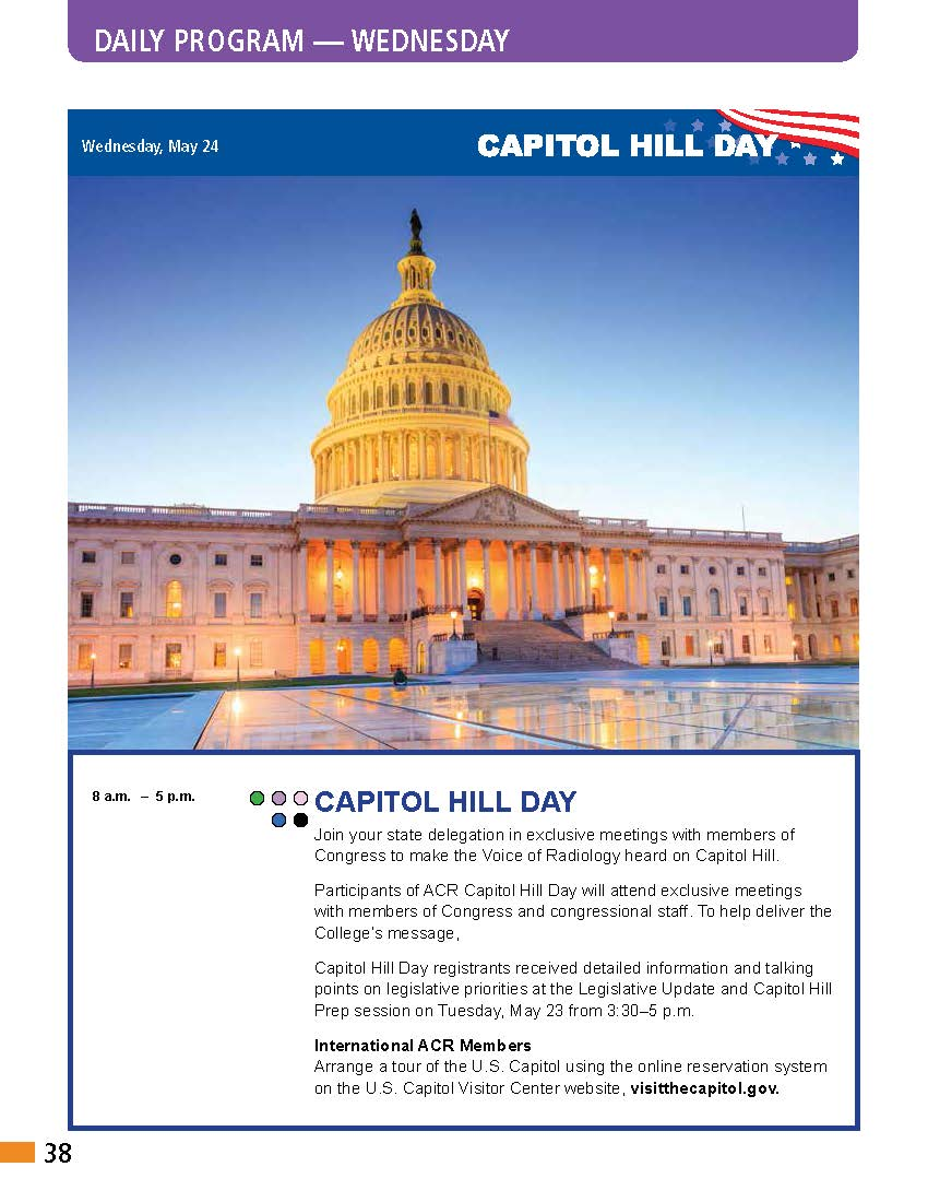 It's an #ACR2017 Capitol Day. Time to bring #voiceofradiology to Congress. Pls tag us with your Hill photos @RLI_ACR @ACRYPS @ACRRFS https://t.co/2iX0BpvNZi