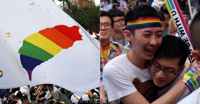 대만, 아시아 최초로 민법상 '동성결혼' 인정하는 나라  '동성결혼 허용하지 않는 민법 '위헌'' 대법관 14명 중 12명이 위헌 판결에 찬성했다  https://t.co/Z86IaK2TJ7
