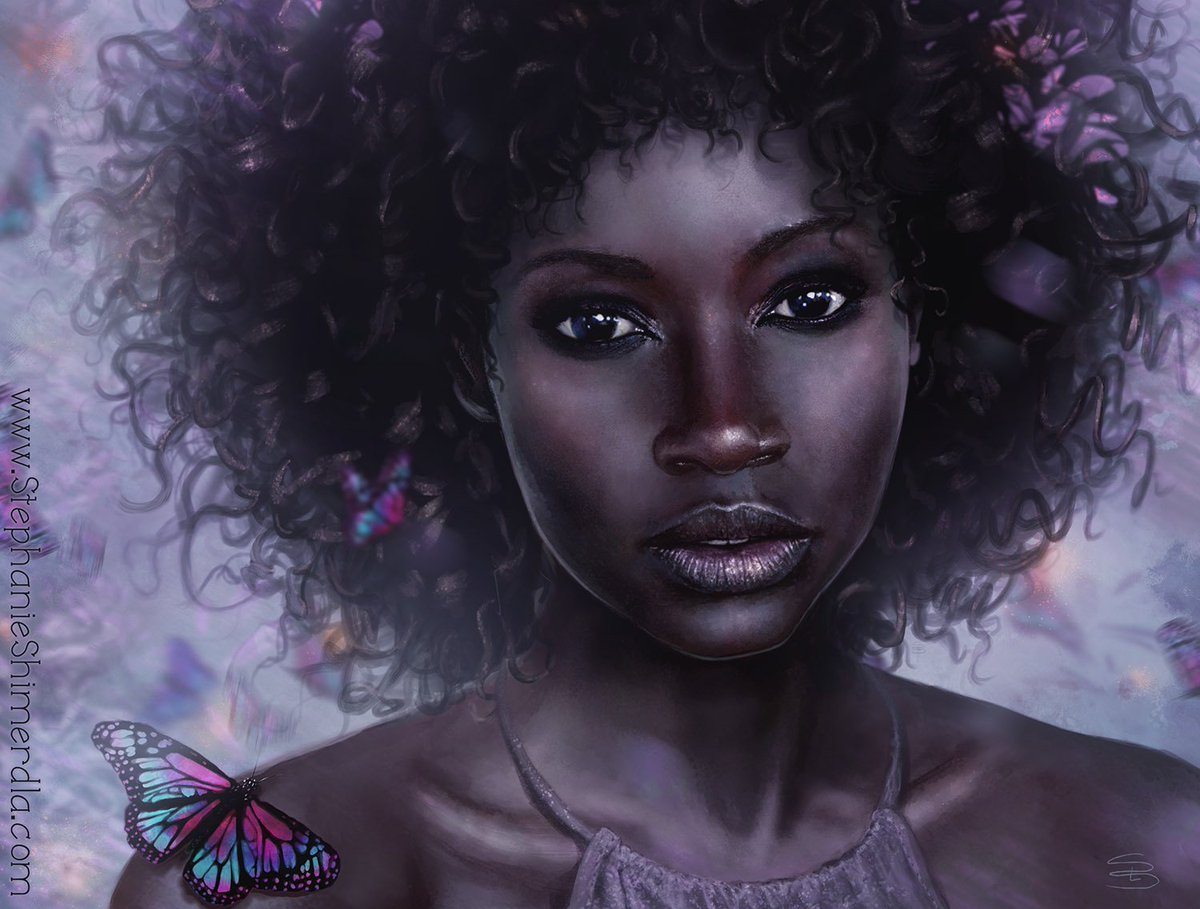 Miss May stands amidst colorful butterflies #illustration #portrait #may <br>http://pic.twitter.com/iAwMs0a3LH