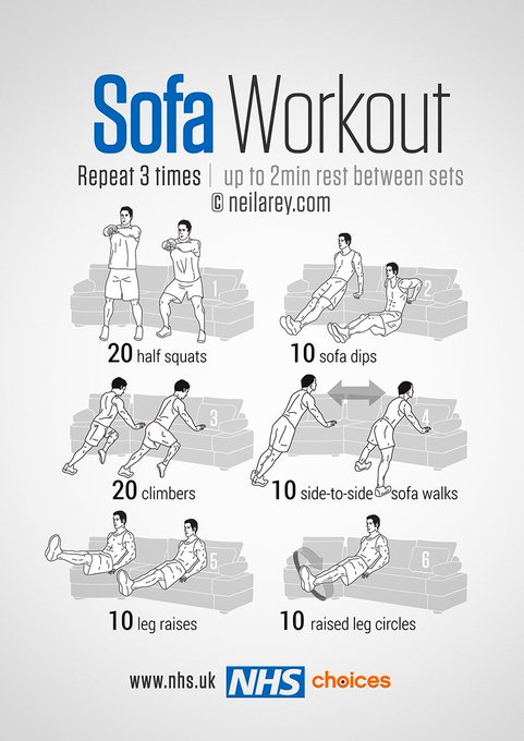 Get those hump day calories burning! Try this 30-minute full-body sofa workout. More gym-free workouts here: https://t.co/RdhjpkCZya