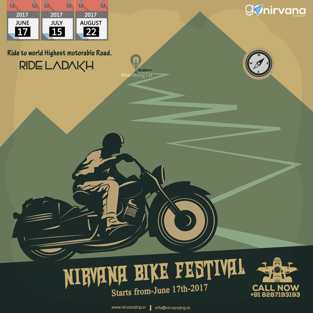 Its #Time to Come Out of Comfort Zone ? #Ride to #Ladakh ! Go Nirvana. Feel the #Himalayan #Cool #Breeze. (#meal / #stay / #RoyalEnfield ).<br>http://pic.twitter.com/GMxXShng7H