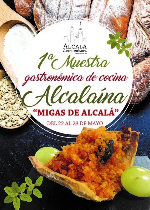 Muestra Gastronómica de Cocina Alcalaína: Migas de Alcalá @AHTurismo  En Alcalá de Henares hasta el 28 de mayo https://t.co/YdJvAfWG5Y