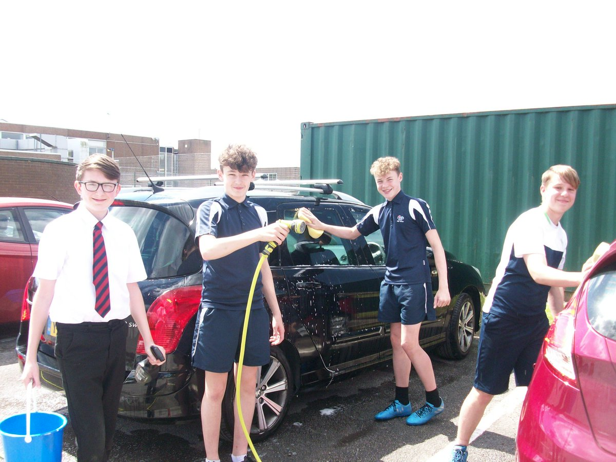 Year 9 Business and enterprise group 'Clean My Ride'  show real commitment to their startup company.  Staff cars are now gleaming!