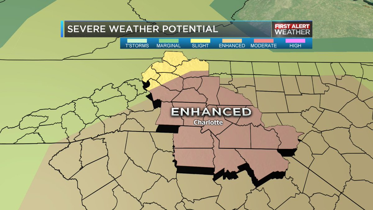 Latest storm outlook has bumped most of the wbtv viewing area into