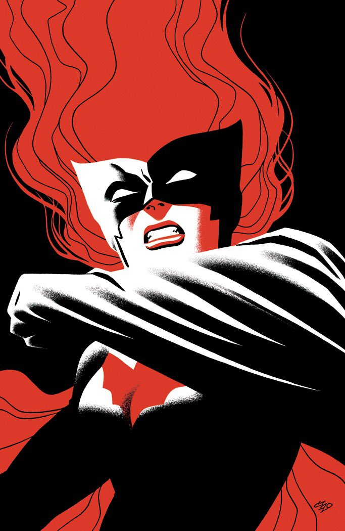 I'm drawing some variant covers for Batwoman, here's the first one, for Batwoman #4: https://t.co/yqB1VcjLJd