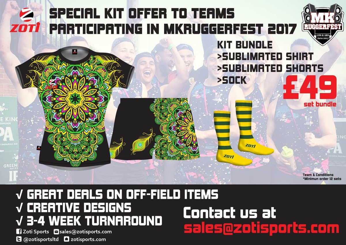 Our kit sponsor @ZotiSportsLtd have created an exclusive team bundle for all teams participating at #MKRUGGEREFST 2017   #Rugby7s #MK50 #Kit<br>http://pic.twitter.com/rHOczuc0EX