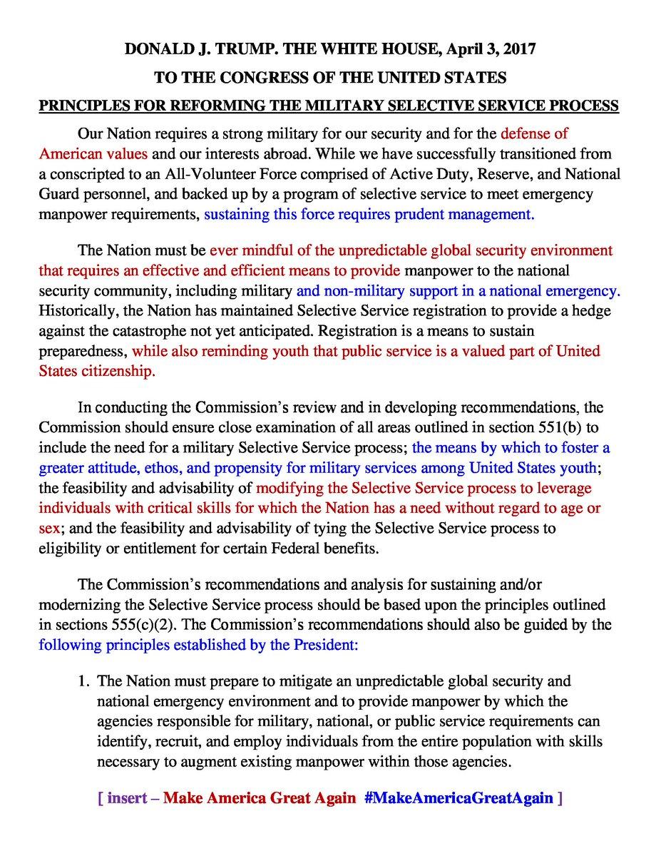 #Trump2Congress memo #SSS_GOV4 #YouthWakeUpCall ReadReplyRT#NationalServiceCaucus #MAGA #JohnBoozman #CloseUp_DC  https://www. facebook.com/notes/peter-je sella/72016-housesenate-markup-4-fy17ndaa-armed-services-joint-team-wakingupusa-to-hel/1043804302364819 &nbsp; … <br>http://pic.twitter.com/MpcAoSzGUz