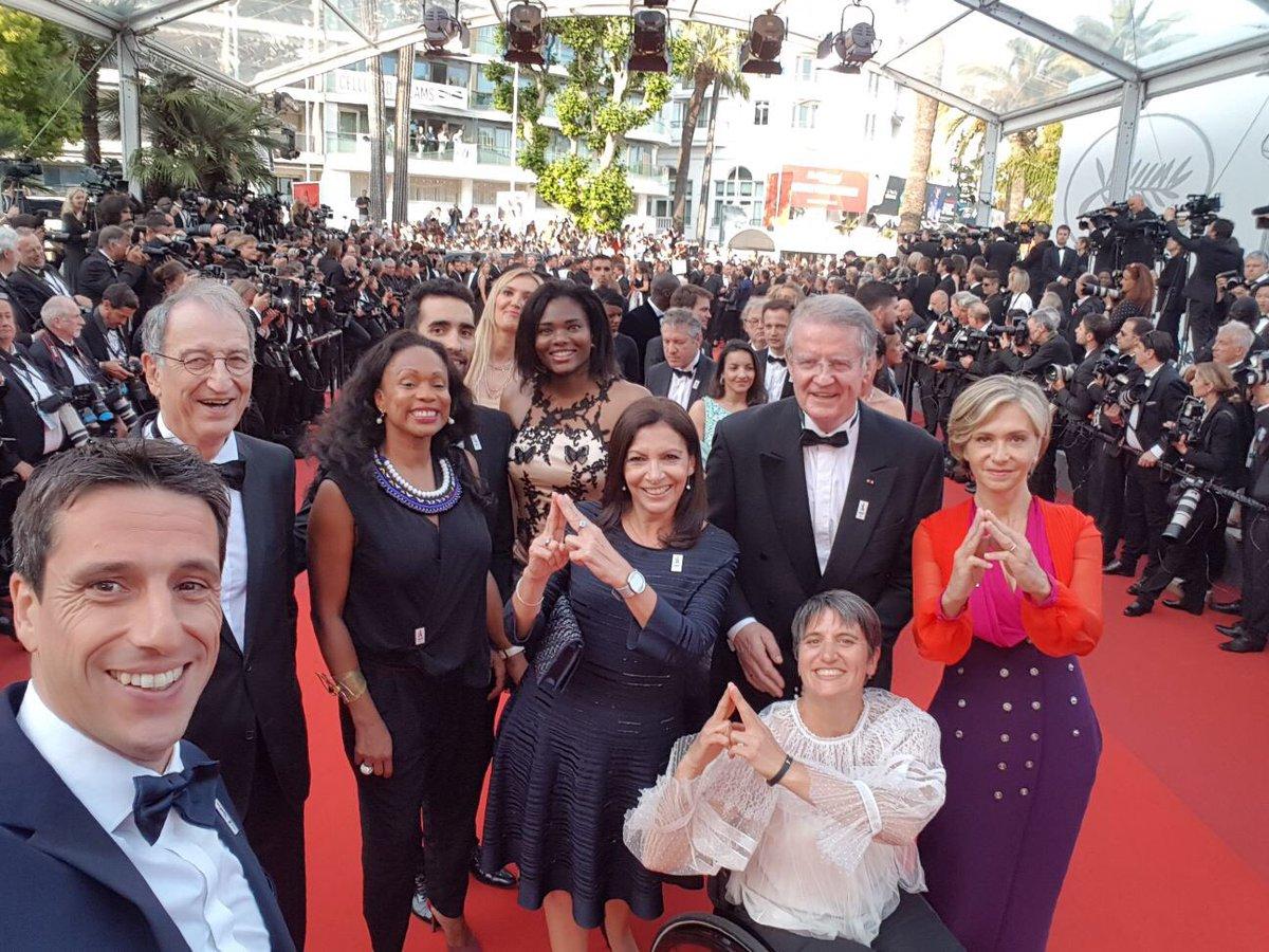 Equipe de rêve #Paris2024 sur le #redcarpet de #Cannes2017 !
