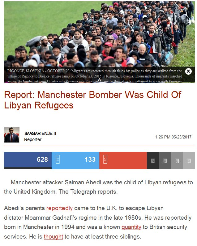 #Manchester bomber was child of Libyan refugees, integration/assimilation will never work.  https:// archive.is/rYfbw  &nbsp;   #svpol #ManchesterBombing<br>http://pic.twitter.com/JI9t2cgzGp