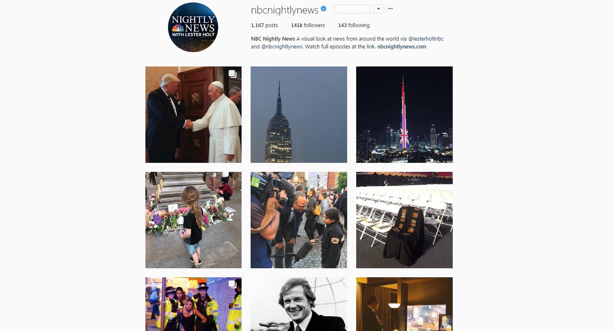 Follow @NBCNightlyNews on Instagram for a visual look at news from around the world -> https://t.co/iMCsefIQQs