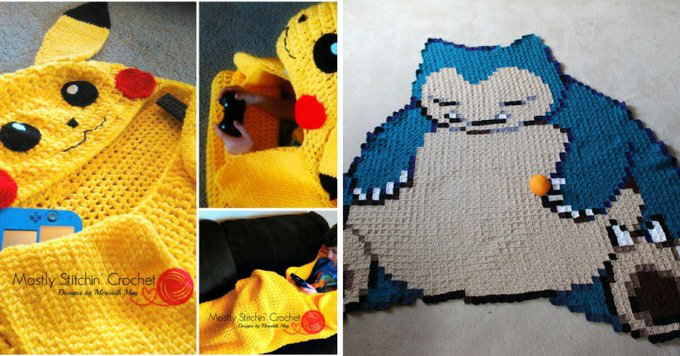 9 Crochet Pokemon Blanket Patterns