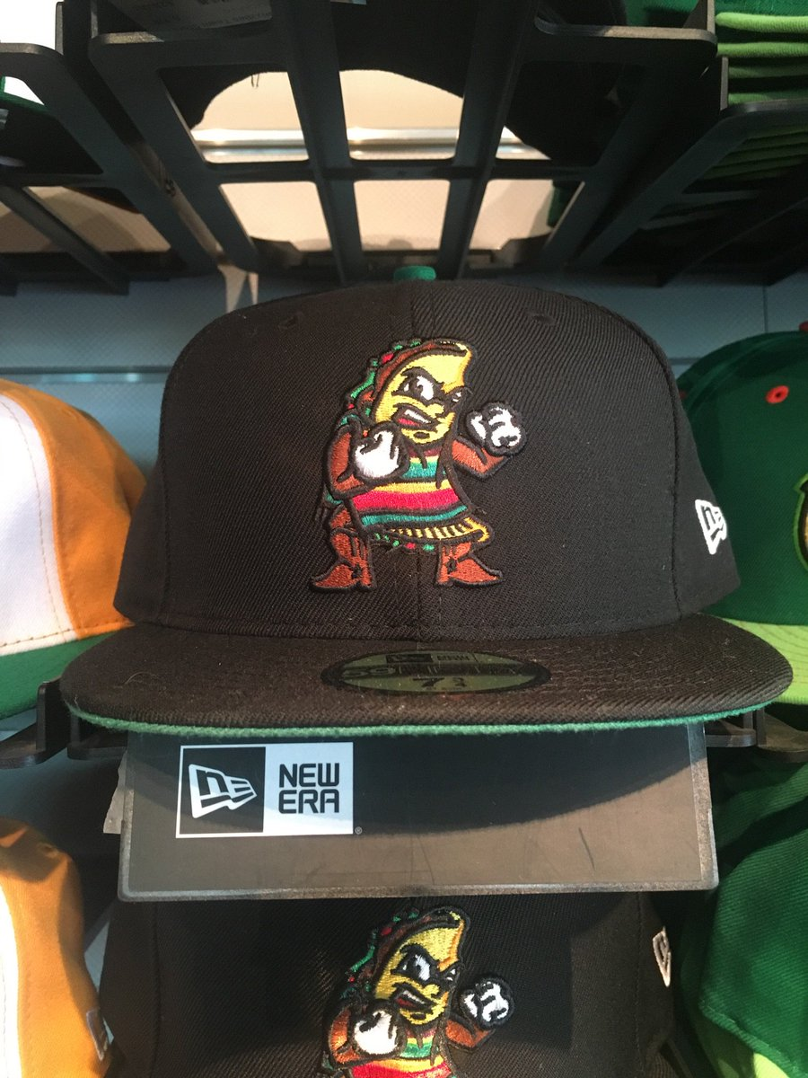 "Also, on Thursday, @FresnoGrizzlies wearing these ""Fighting Taco"" caps for first time. https://t.co/NR5Xfbsp59"