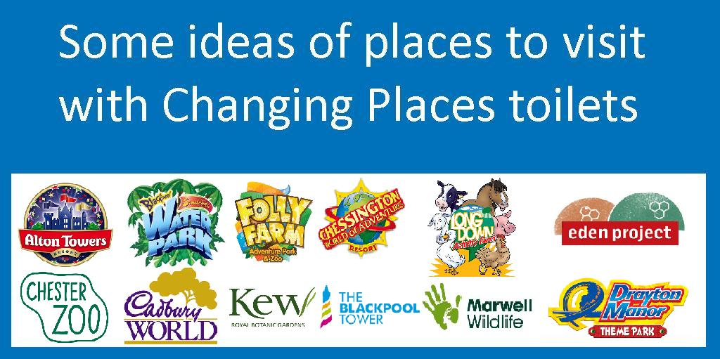 Here are a few ideas of just some of the fab venues with #ChangingPlaces toilets you might like to visit this #BankHoliday! <br>http://pic.twitter.com/pmpOpEUiAv