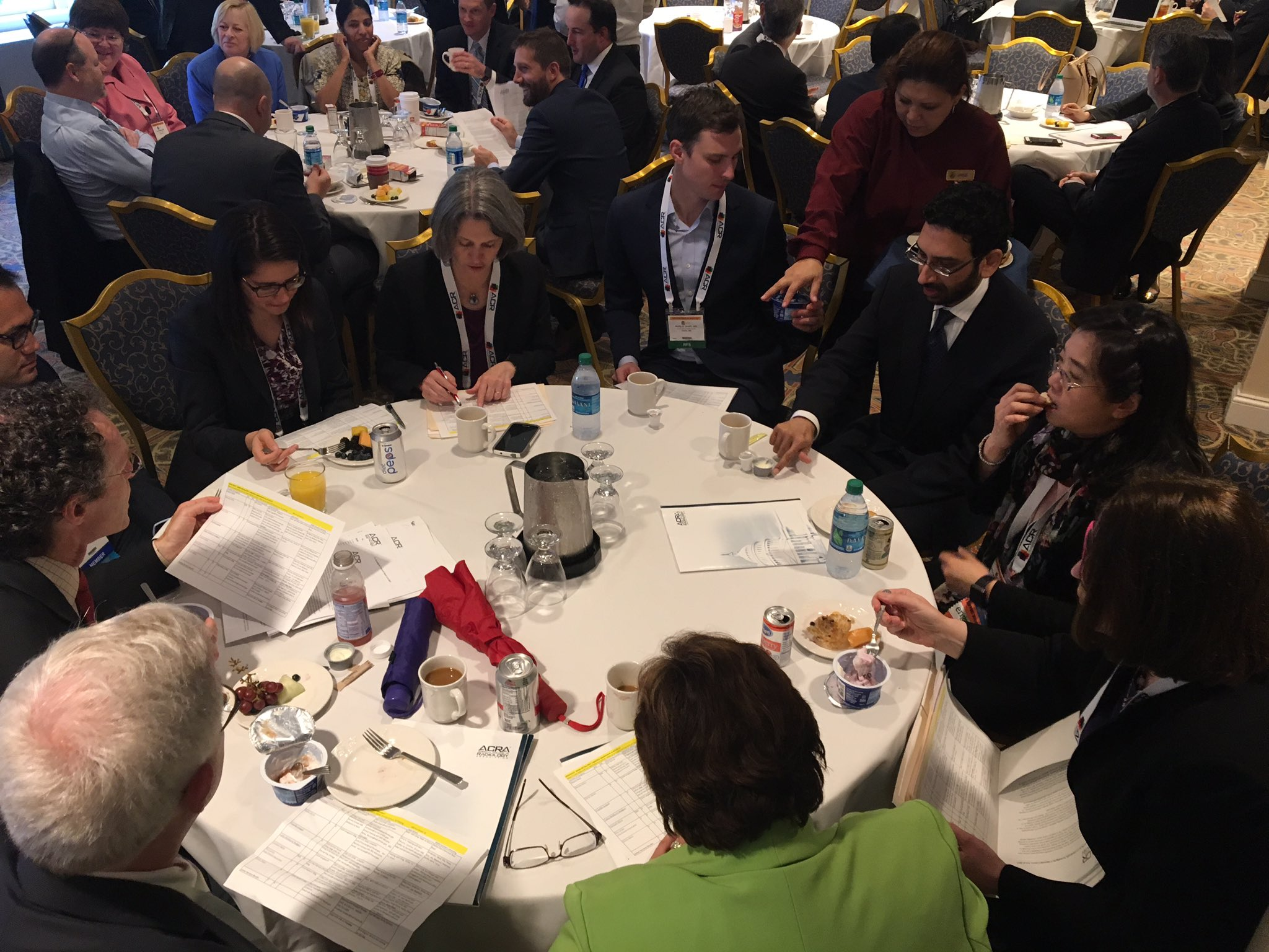 The WA State Radiological Society @RadiologyWSRS huddles before ACR hill day at the Capitol Hill Club @RadiologyACR #ACR2017 https://t.co/z9ejSbqBJP