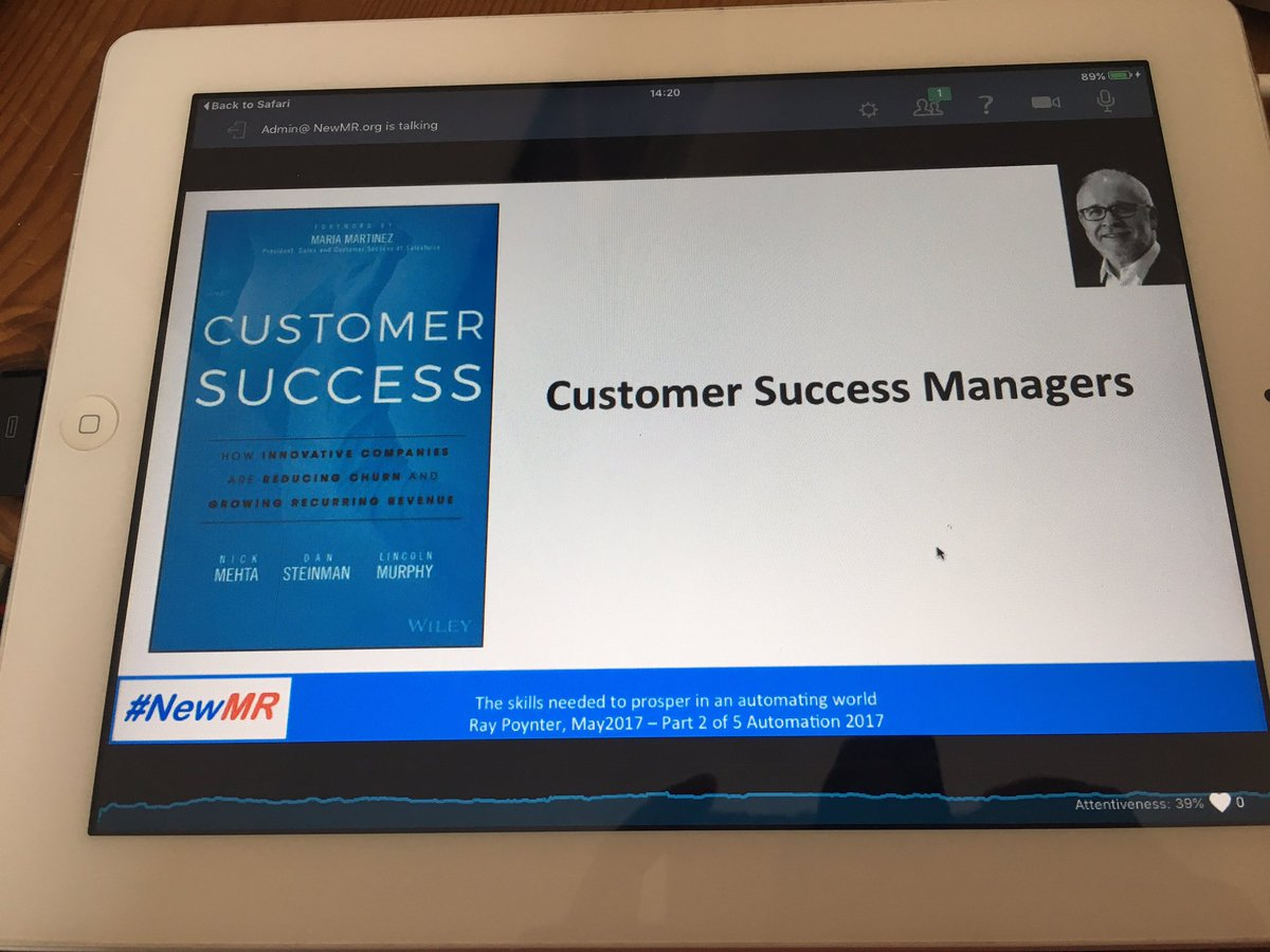 Customer Success Managers - don&#39;t have one? Get one! Good reminder that we&#39;re here to make our clients successful #automation #NewMR #mrx<br>http://pic.twitter.com/5k2Jxs33CC