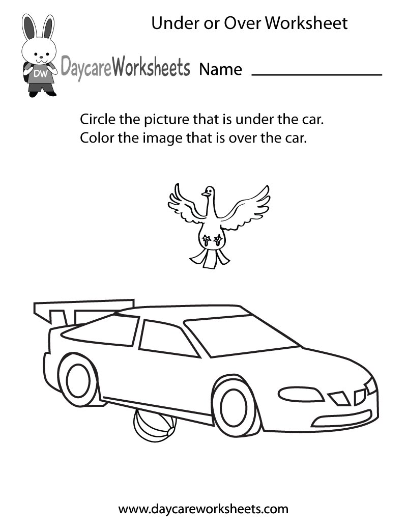 Daycare worksheets fundaycare twitter our free position and order worksheets help kids learn basic spatial concepts you can get them all here robcynllc Image collections