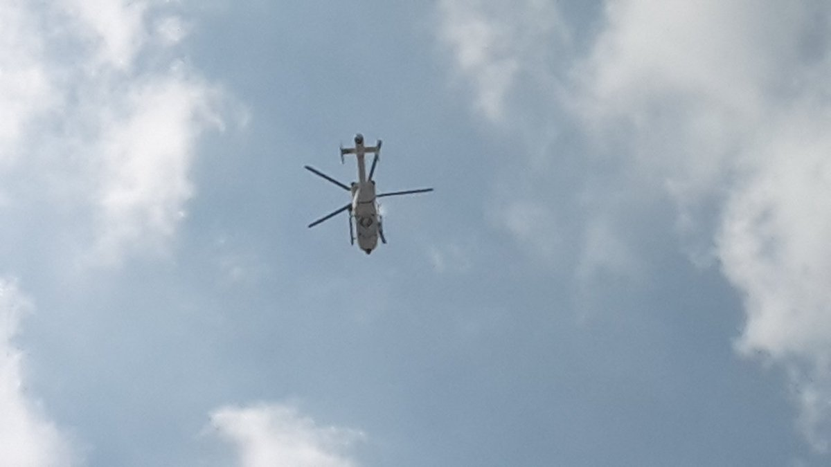 Choppers out #Brussels #Trump