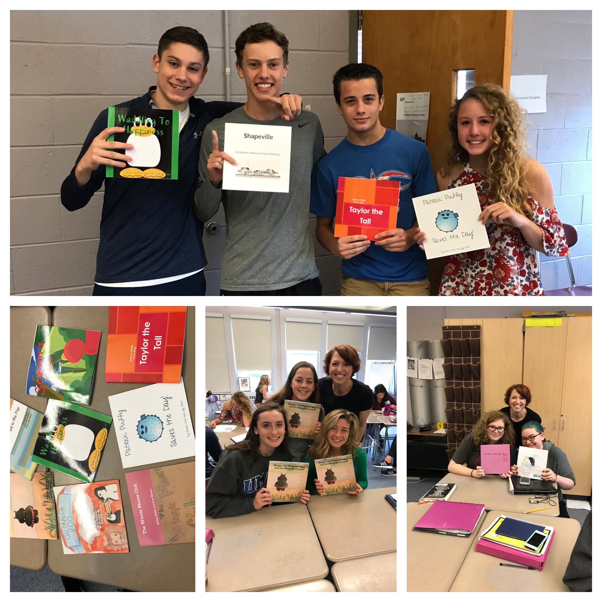 Period D sophomore English class showcase their published books @FoleyProcko today! https://t.co/JQInENMseT