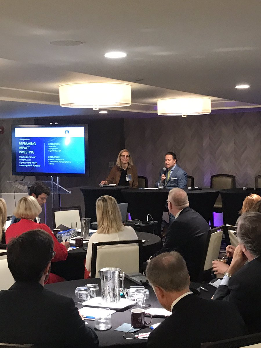 Excited to be @SkytopStrat&#39;s Impact Investing conference w/ @invest_4impact @seyfarthshawLLP, great discussions around #impinv so far! <br>http://pic.twitter.com/A541HDTGo7